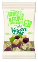 Ginger&Fruit, veganer Ingwer-Frucht-Snack, Limette-Hibiskus