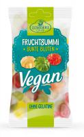 Bunte Blüten, vegane Fruchtgummis